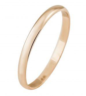 Обручальное кольцо из золота 585 пробы, ширина 2.0 мм