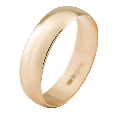Обручальное кольцо из золота 585 пробы, ширина 5.0 мм