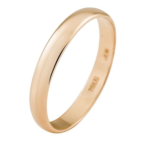 Обручальное кольцо из золота 585 пробы, ширина 3.0 мм