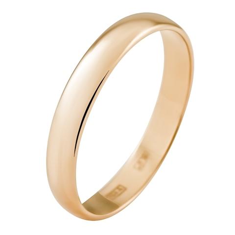 Обручальное кольцо из золота 585 пробы, ширина 3.5 мм