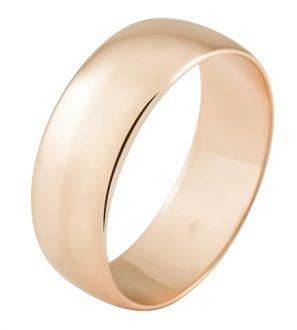 Обручальное кольцо из золота 585 пробы, ширина 7.0 мм