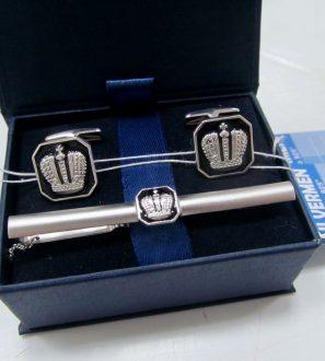 Запонки + зажим для галстука в подарочном футляре