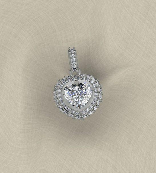 Кулон с бриллиантамми