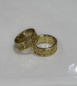 """Обручальные кольца """"Семь слонов"""""""