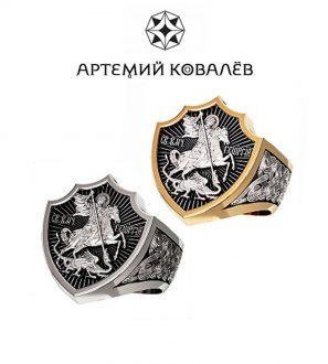 """перстень """"Георгий Победоносец"""""""
