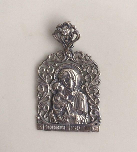Нательная икона, образ Богородицы