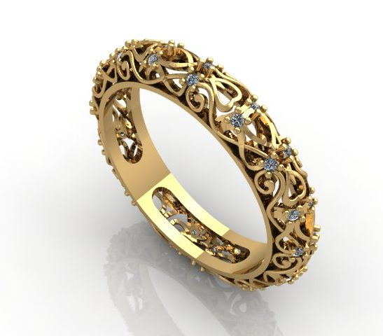 обручальное кольцо арт. 001