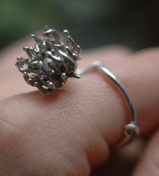 """Безразмерное кольцо """"Хризантема"""""""