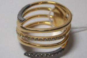 Кольцо, золото 750, вес 5,98 грамм, размер 16,5, бриллианты 3/5,