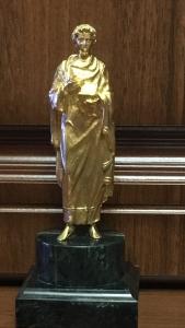 пантелеймон целитель,латунь,серебро 14см высота вместе