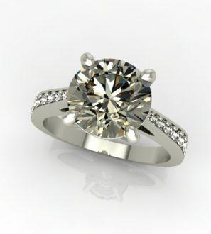 кольцо с камнем 2 карата