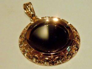 Кулон-зеркальце.Золото 585 пробы RSCN0907