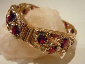 Рубиновый браслет.Золото 585 пробы,рубины RSCN1181