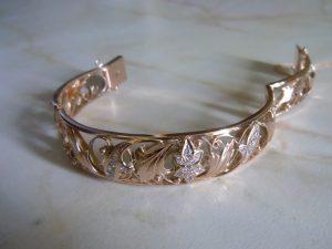 Женский браслет.Золото 585 пробы,фианиты RSCN1618