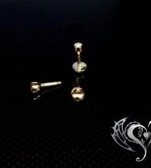 Серьга для пирсинга с бриллиантом