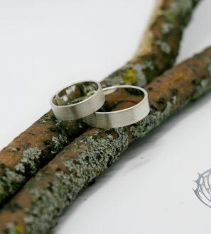 Матовый обручальные кольца
