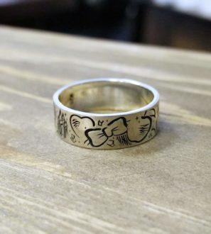 Кольцо «Белоснежка»